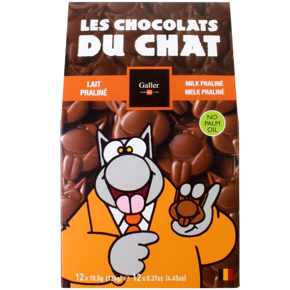 Katzenzungen, Vollmilch Praliné, Galler, Belgien                                                                                                                                                         -  - Chocolats-De-Luxe