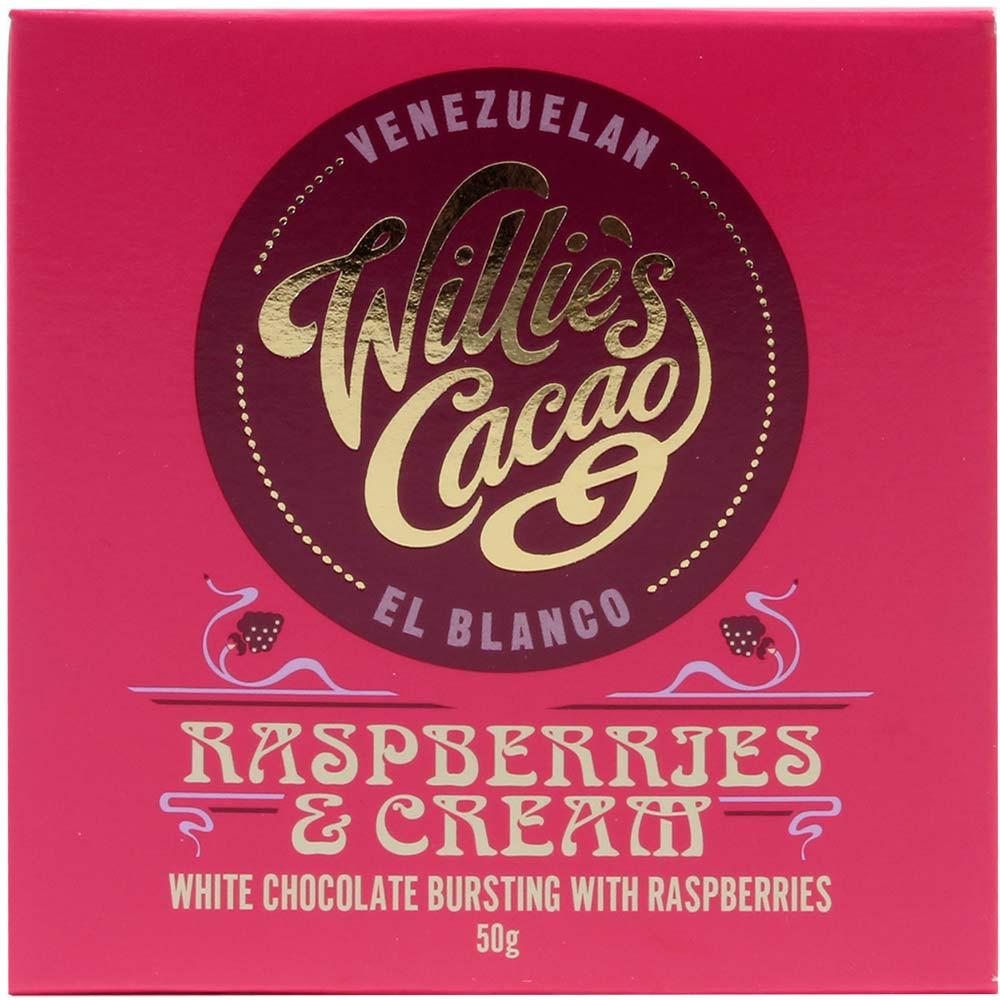 Raspberries & Cream - 34,6% weiße Schokolade mit Himbeeren