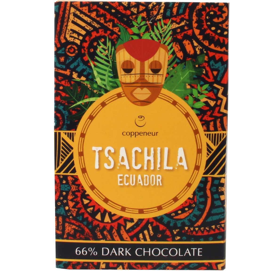 Tsáchila Ecuador 66% dunkle Schokolade - Barras de chocolate, chocolate sin lecitina, vegan-amigable, Alemania, chocolate alemán - Chocolats-De-Luxe