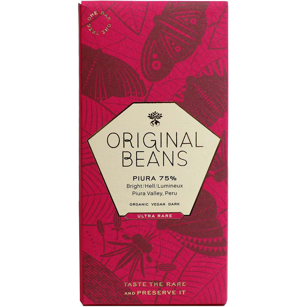 Original Beans - Piura Porcelana 75% Piura Valley Peru | chocolats-de-luxe.de - Tafelschokolade, glutenfreie Schokolade, lezithinfreie Schokolade, vegane Schokolade, Schweiz, schweizer Schokolade, pure Schokolade - Chocolats-De-Luxe