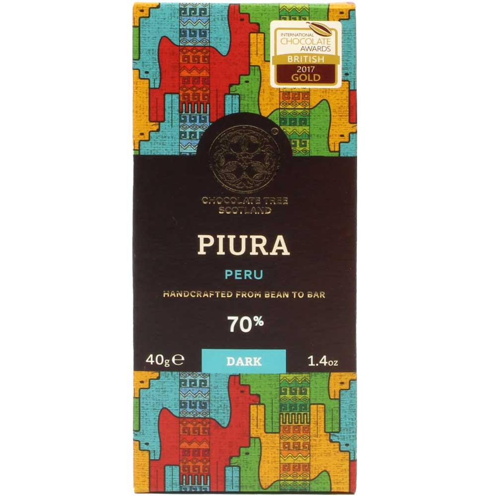Chocolat Bio Piura Pérou 70% (Chililique) - Tablette de chocolat, chocolat sans lécithine, végan-amicale, Écosse, chocolat écossais, Chocolat avec sucre - Chocolats-De-Luxe