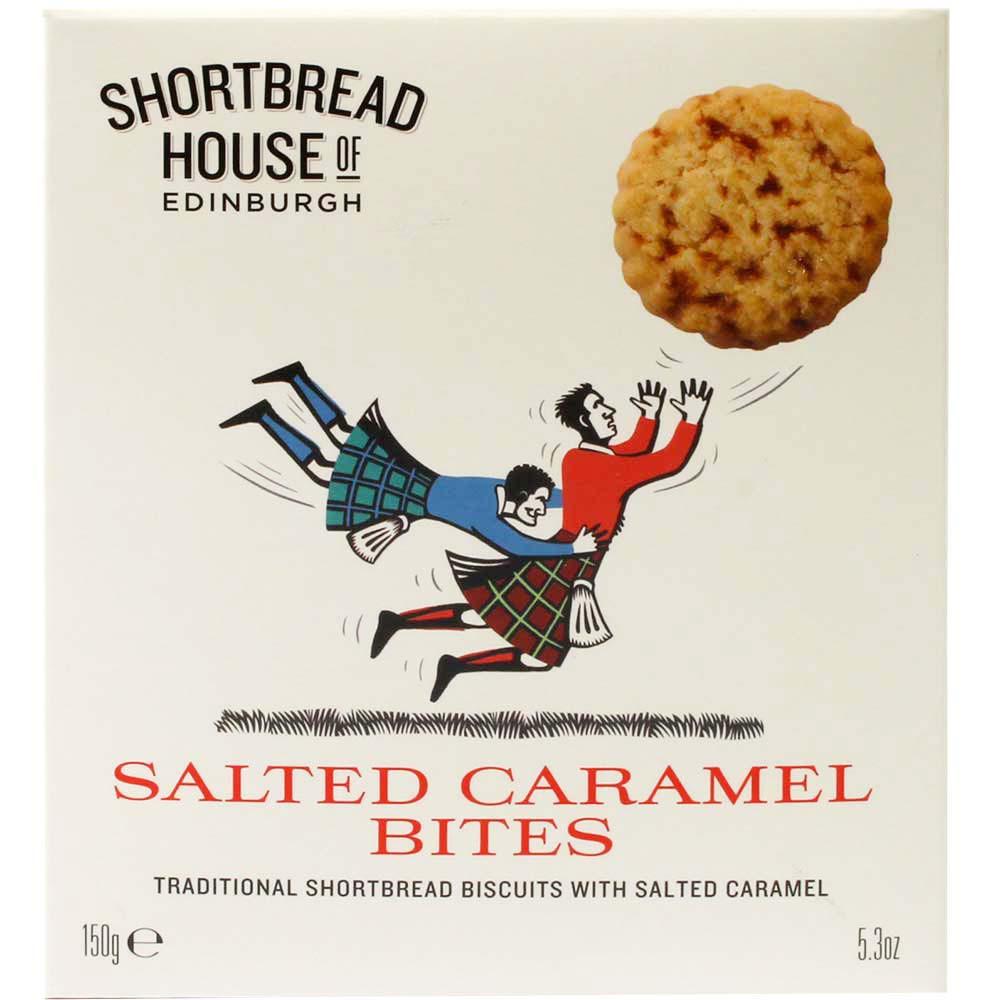 Salted Caramel Bites - Buttergebäck - Scotland, Scottish chocolate - Chocolats-De-Luxe