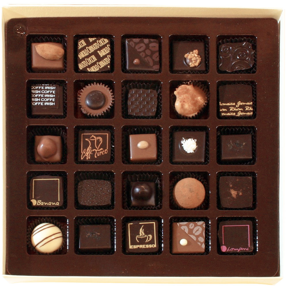 Slitti Selezione di Praline 250g - 25 Stück - Pralines, Italie, chocolat italien - Chocolats-De-Luxe