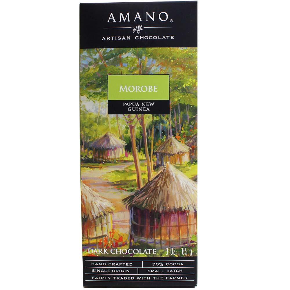 Morobe Papua Nueva Guinea 70% chocolate negro - Barras de chocolate, Estados Unidos, chocolate americano, us chocolate - Chocolats-De-Luxe