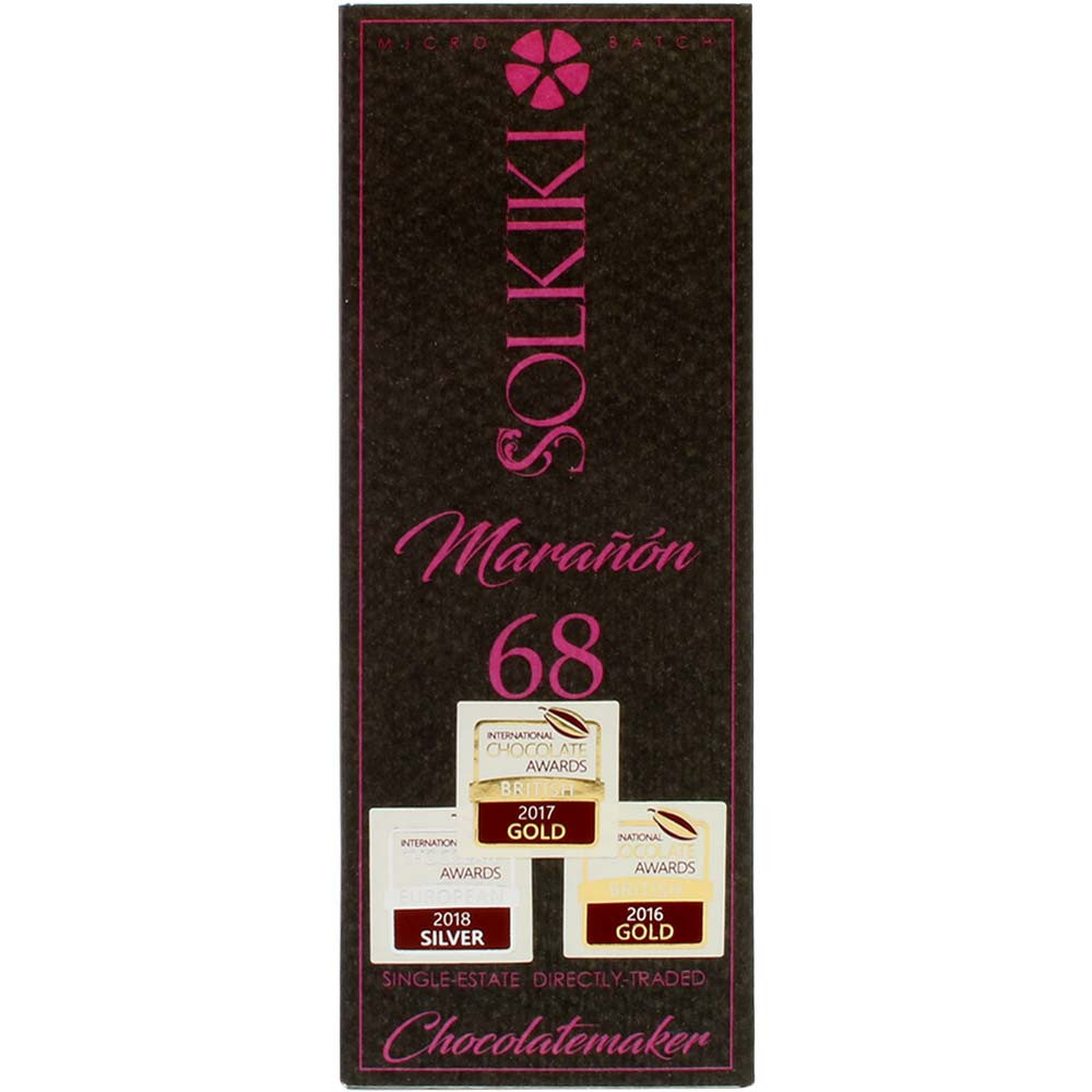 Maranon 68 - The Worlds rarest Cacao - Tablette de chocolat, chocolat végétalien - Chocolats-De-Luxe