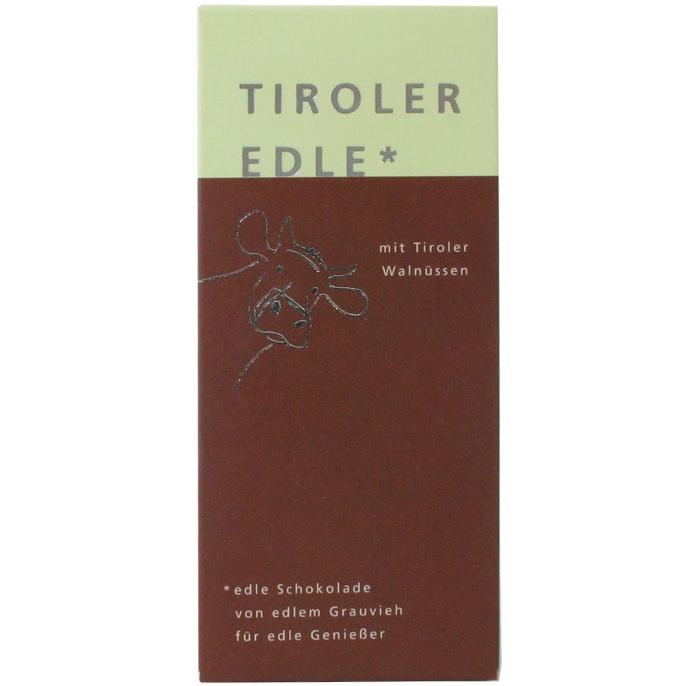Tiroler Edle Österreich Tiroler Grauvieh Rahm ohne Konservierungsstoffe Walnüsse milk chocolate filled chocolat au lait Baumnuss