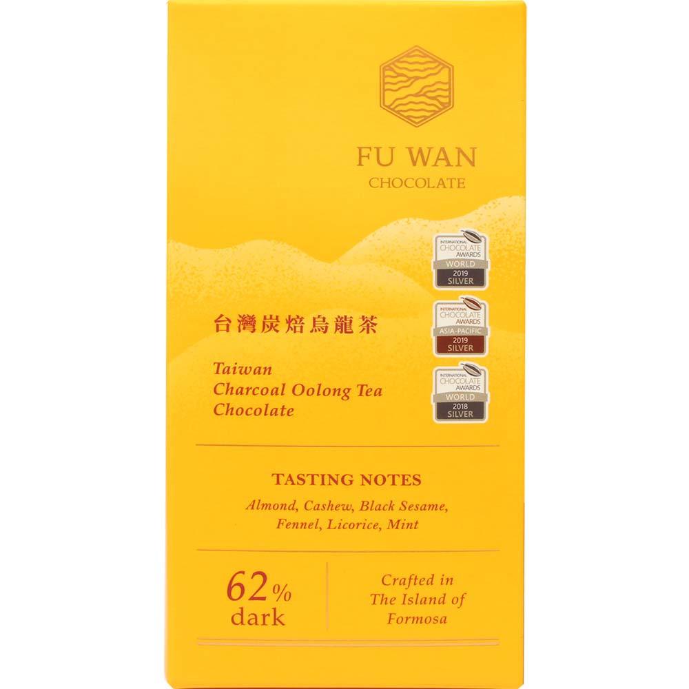 Taiwan Charcoal Oolong Tea Chocolate 62% dunkle Schokolade - Tablette de chocolat, Taïwan, chocolat taïwanais, Chocolat avec thé - Chocolats-De-Luxe