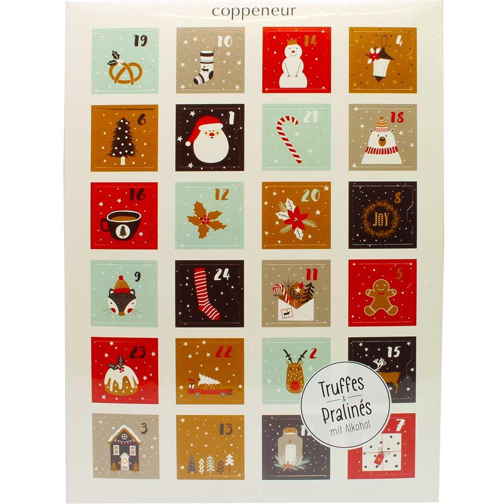 Calendario de Adviento El ciervo llama Feliz Navidad con alcohol - Calendario de Adviento, con el alcohol - Chocolats-De-Luxe