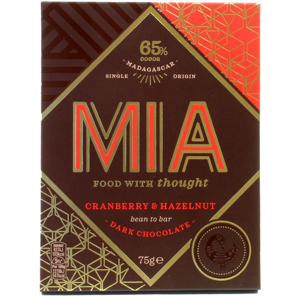 65% cranberry & hazelnut chocolate - Bar of Chocolate, Madagascar, Madagascan chocolate, Chocolate with fruits - Chocolats-De-Luxe