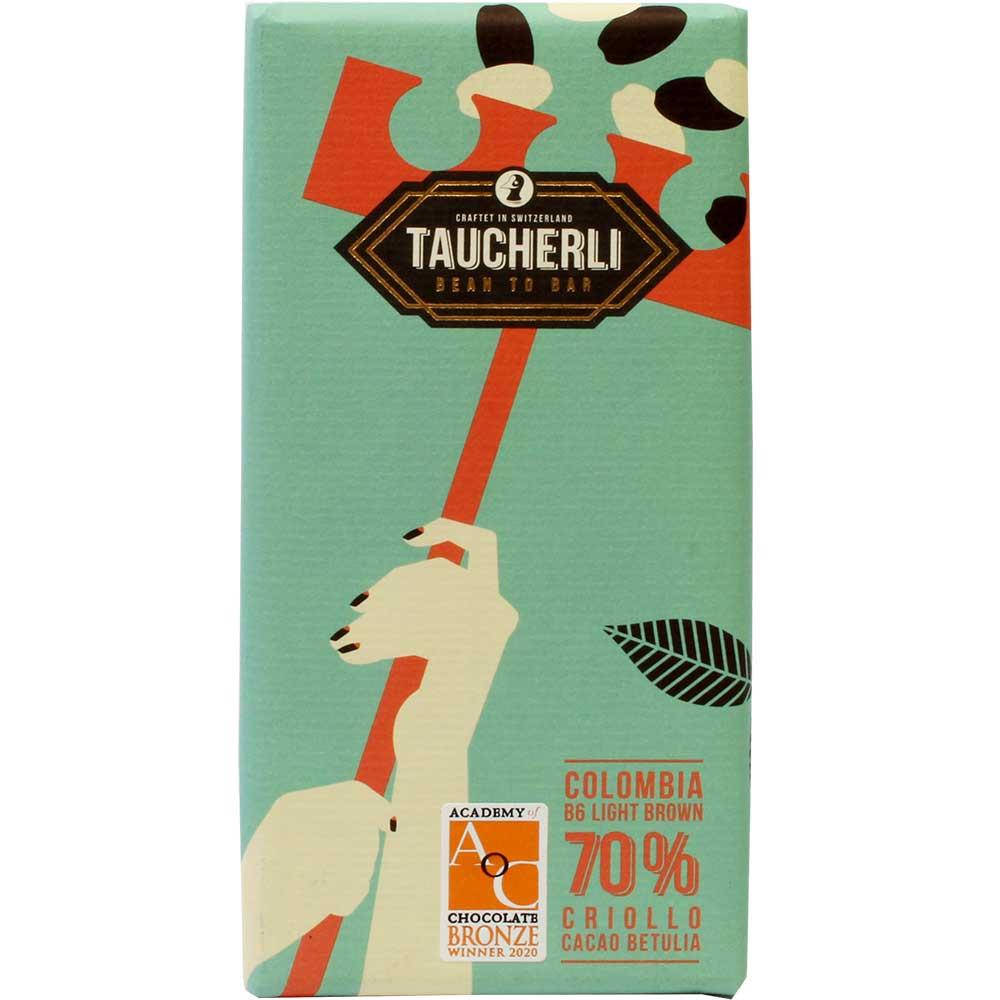 Colombia 70% Betulia B6 Pure Criollo - dark chocolate - Bar of Chocolate, gluten free, laktose free, vegan-friendly, Switzerland, Swiss chocolate, plain pure chocolate without ingredients - Chocolats-De-Luxe
