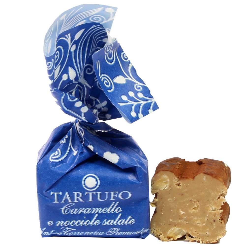 Tartufo Caramello e nocciole salate Stück - SweetFingerfood, Trufa, sin alcohol, sin gluten, Italia, chocolate italiano, chocolate con avellanas - Chocolats-De-Luxe