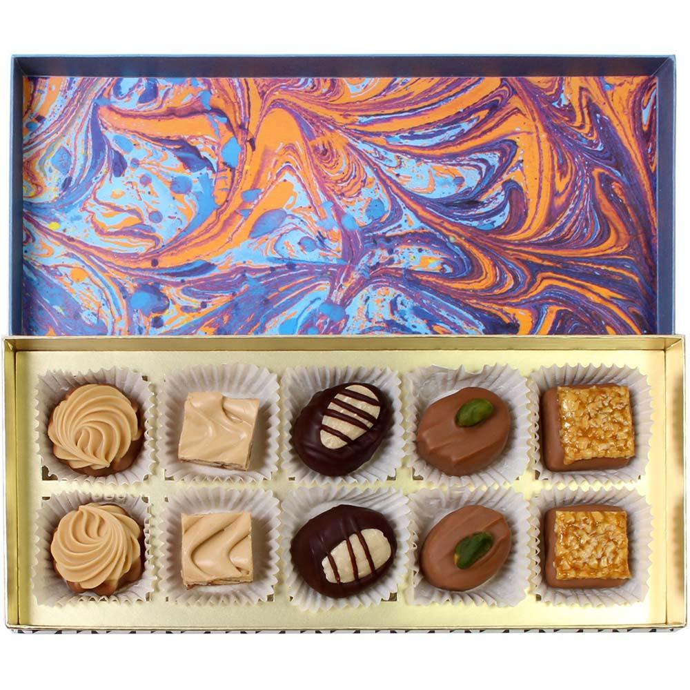Scatola di praline Torrone - Cioccolatini, Cioccolato senza alcol, Germania, cioccolato tedesco, Cioccolato con torrone, Cioccolato con gianduja - Chocolats-De-Luxe