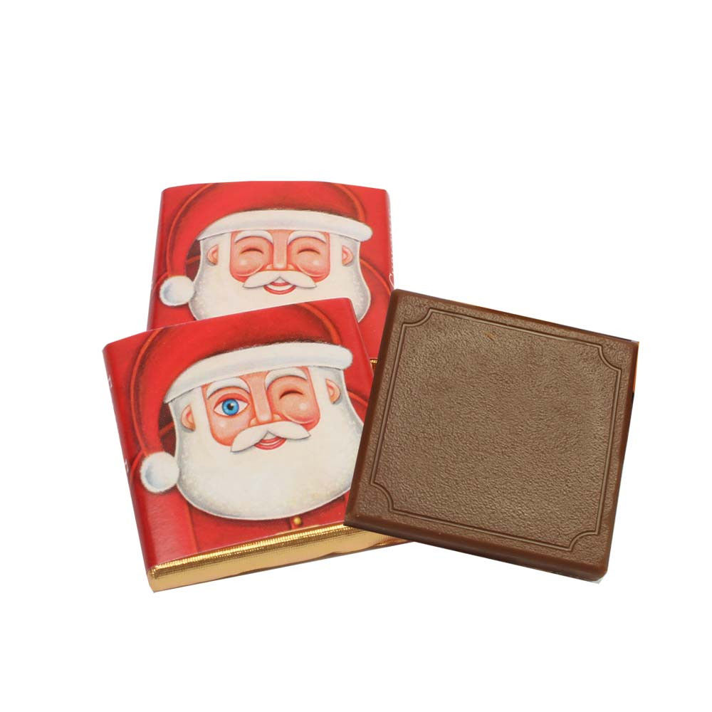 Napolitain Christmas tablets - Napolitains, Chocolate Squares, Sweet Fingerfood, alcohol free Chocolate, England, english chocolate - Chocolats-De-Luxe