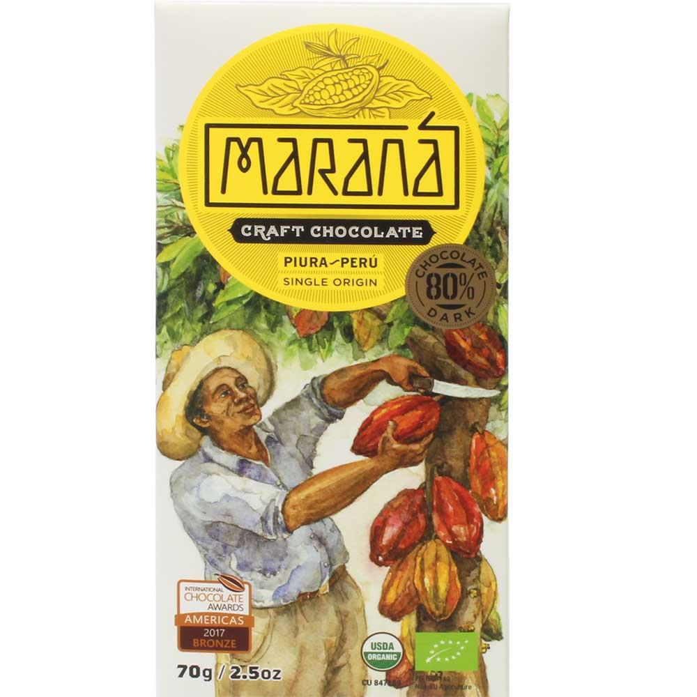80% Piura Perú de origen único - chocolate negro orgánico - Barras de chocolate, sin gluten, Perú, chocolate peruano, Chocolate con azúcar - Chocolats-De-Luxe