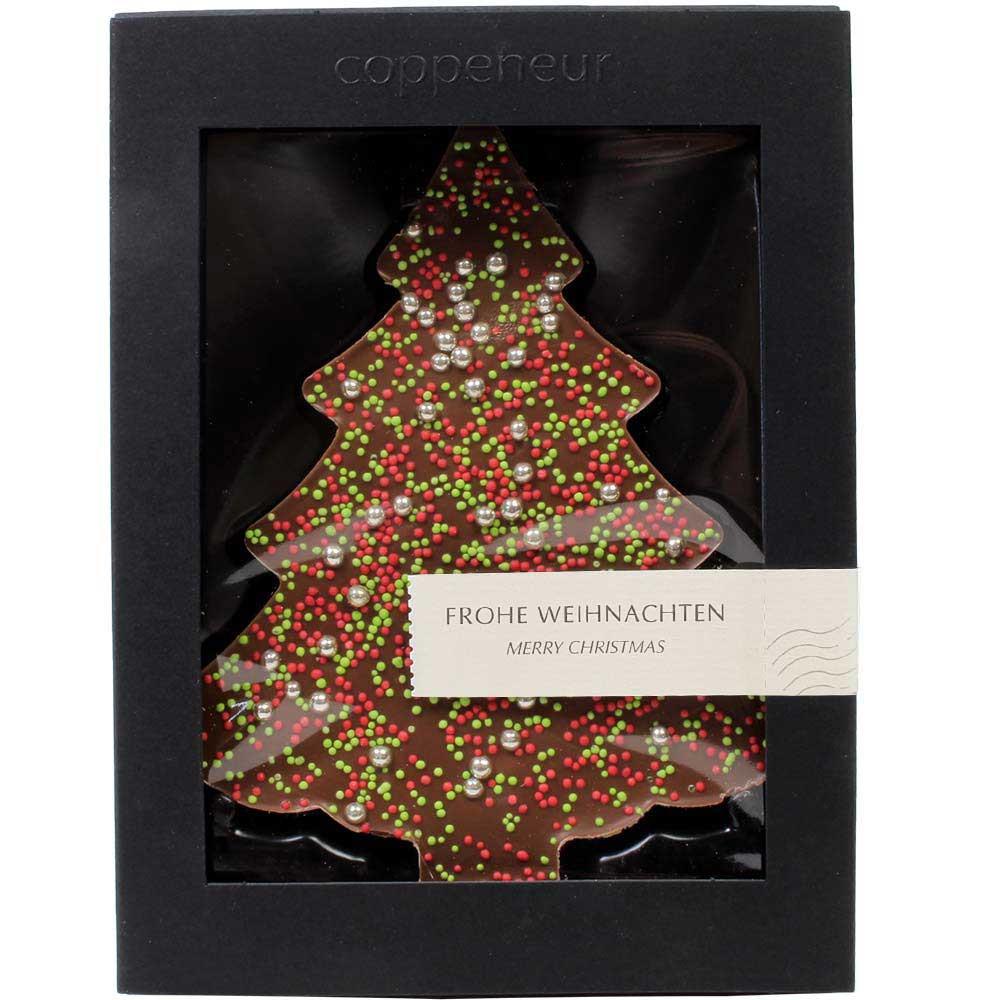 Chocolats sapin de Noël - chocolat au lait 80g , Chocolat au lait , - Chocolats-De-Luxe