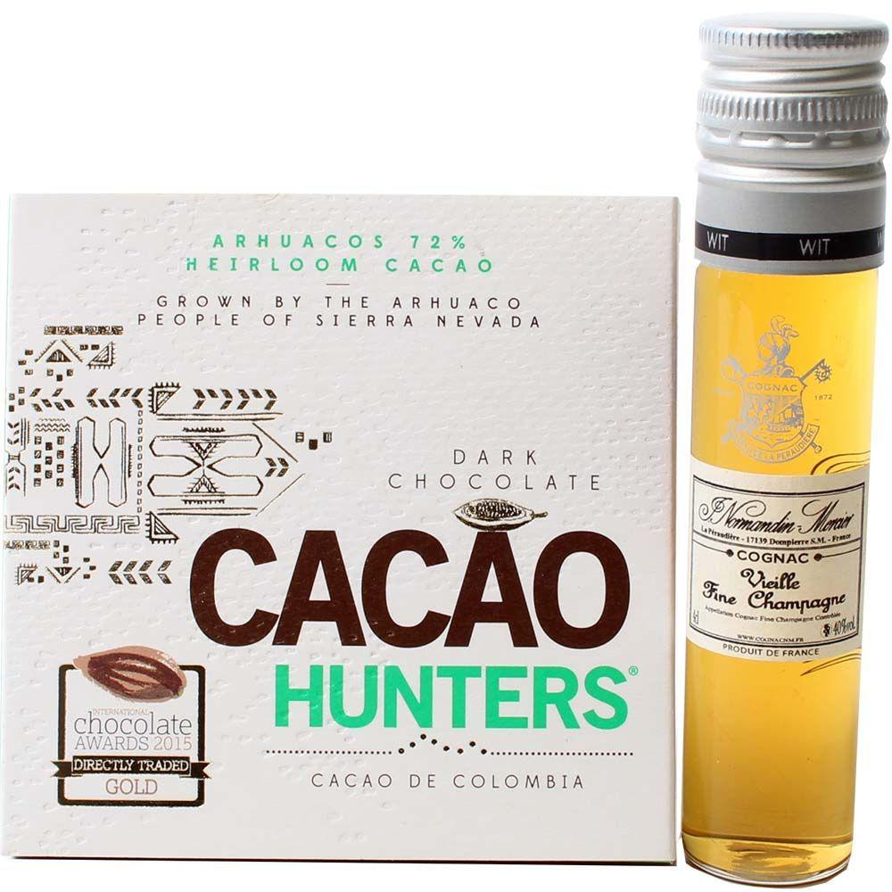 Geschenkset Cognac und Schokolade -  - Chocolats-De-Luxe