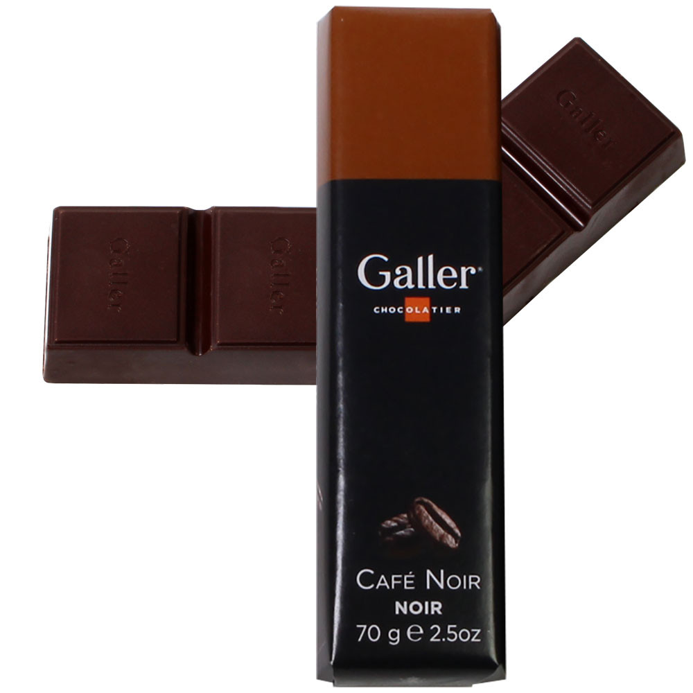 Schokoladenriegel Black coffee Brazil -  - Chocolats-De-Luxe