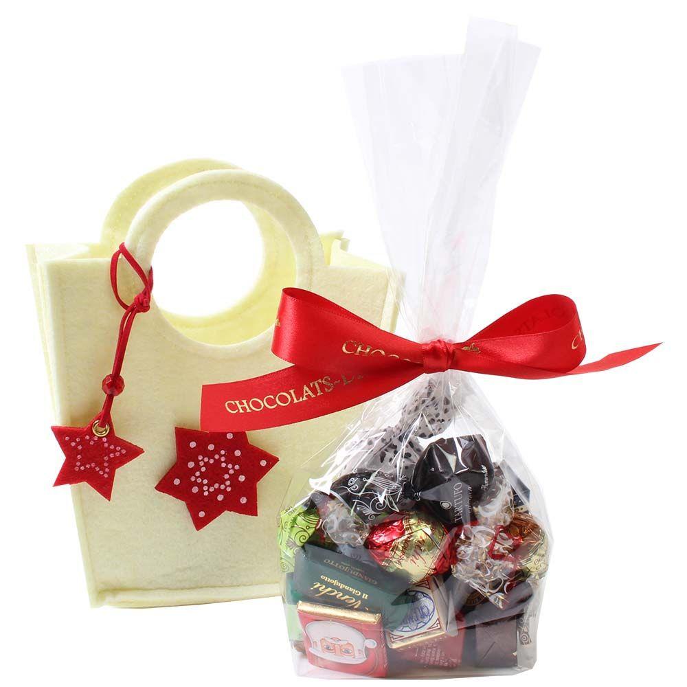 Set regalo borsa stella Buon Natale -  - Chocolats-De-Luxe