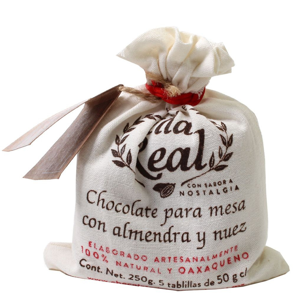 Drinking chocolate 30% Almendra y Nuez - almond and nut in a fabric bag 250g - Hot Chocolate - Chocolats-De-Luxe