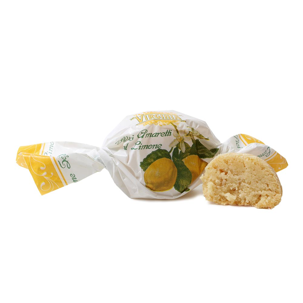 Soft Amaretto Keks mit Zitrone , Sweet Fingerfood , Italy, italian chocolate , white , Biscuits/Cookies , - Chocolats-De-Luxe