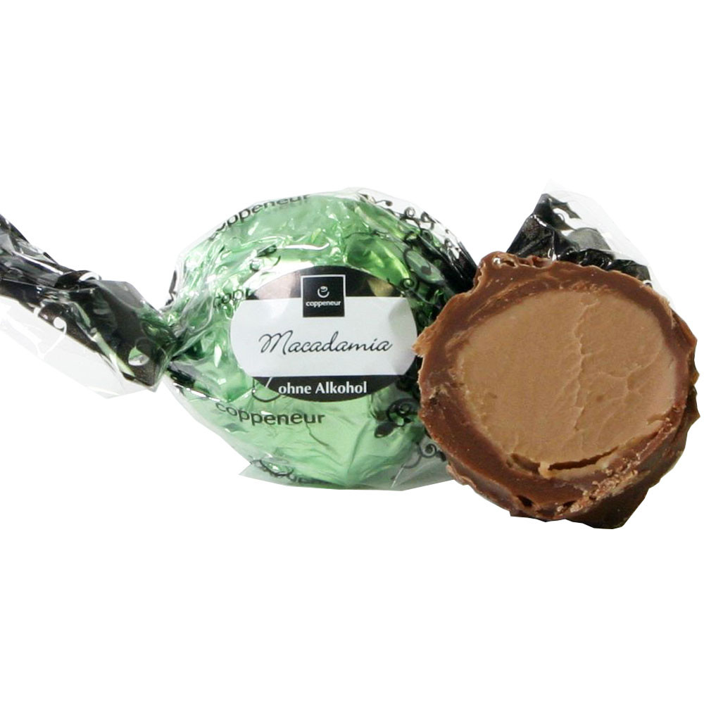 Bola de macadamia de invierno sin alcohol - SweetFingerfood, Chocolate sin alcohol, Alemania, chocolate alemán, Chocolate con macadamia - Chocolats-De-Luxe