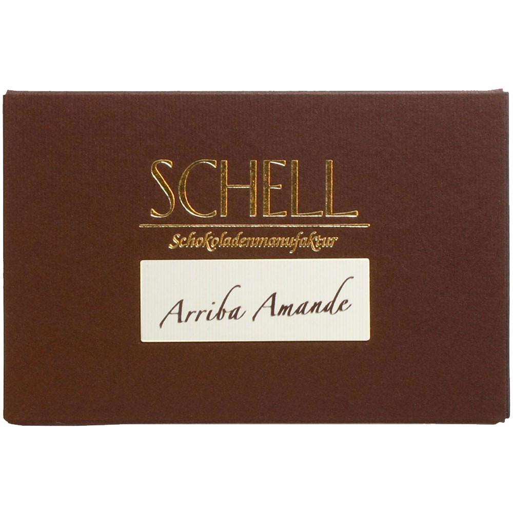 Schell, Arriba Kakao, Arriba Schokolade, Schokolade aus Ecuador, Schokolade mit Mandeln, Schokolade mit Tonkabohne - Tablette de chocolat - Chocolats-De-Luxe