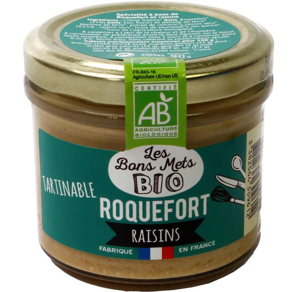 Tartinable Roquefort Raisins BIO - Aufstrich mit Roquefortkäse & Rosinen -  - Chocolats-De-Luxe