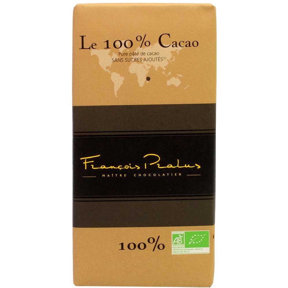 Le 100% Cacao ohne Zuckerzusatz - Schokolade aus Madagascar - Tafelschokolade, glutenfrei, laktosefrei, vegan-freundlich, Frankreich, französische Schokolade, pure Schokolade - Chocolats-De-Luxe