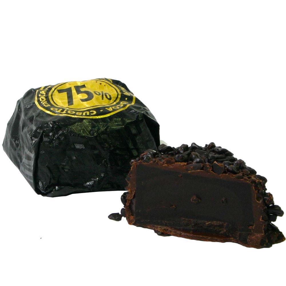 dark chocolate, chocolat noir, Cubotto Chocaviar, Kaviar, Praline einzeln verpackt, - Pralines, Sweet Fingerfood, alcohol free Chocolate, gluten free chocolate, Italy, italian chocolate - Chocolats-De-Luxe