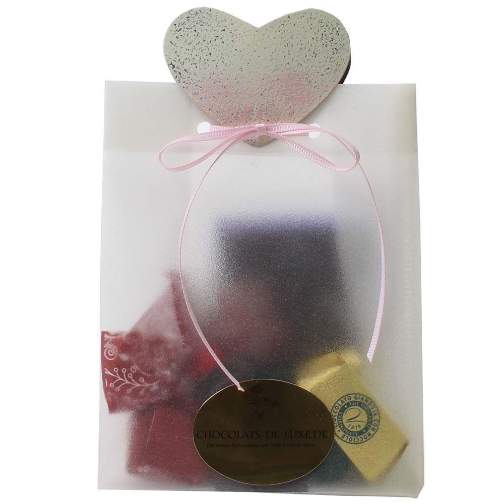 Geschenkset Tüte mit Herz -  - Chocolats-De-Luxe