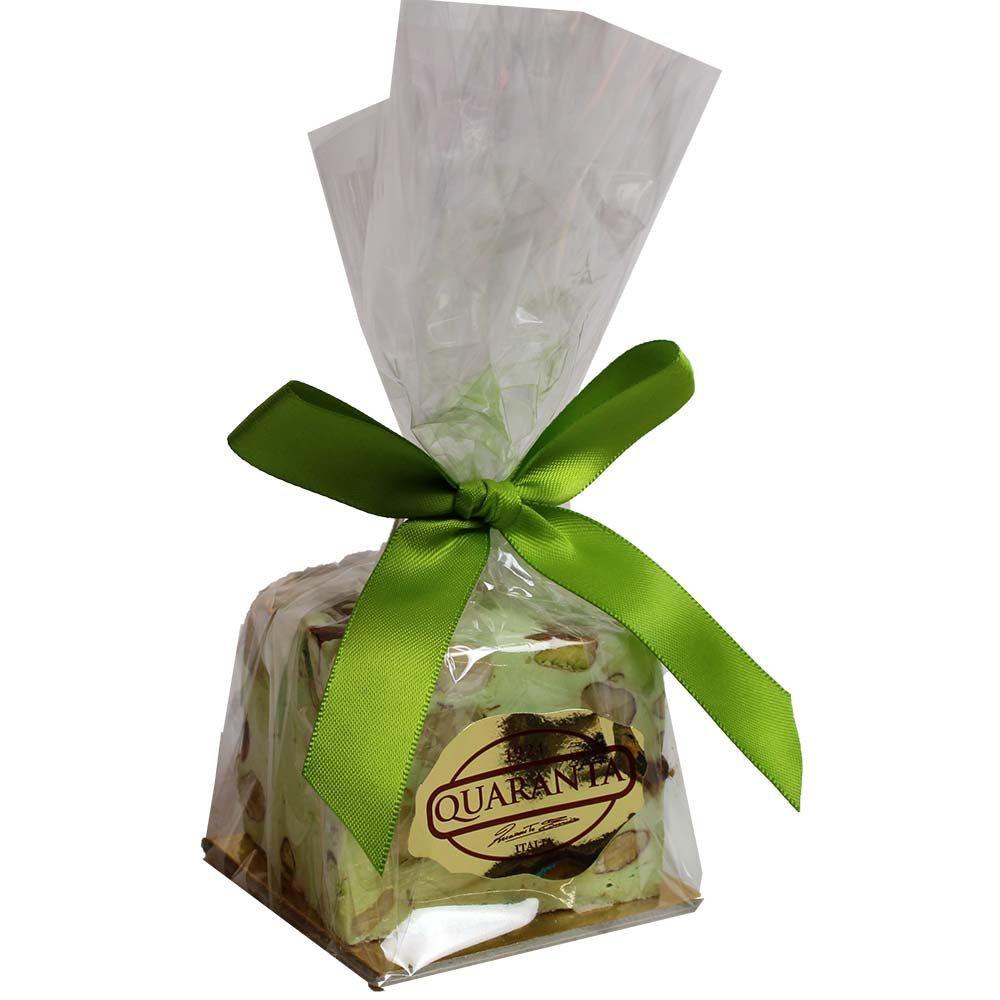 Dados de turrón blando con pistachos -  - Chocolats-De-Luxe