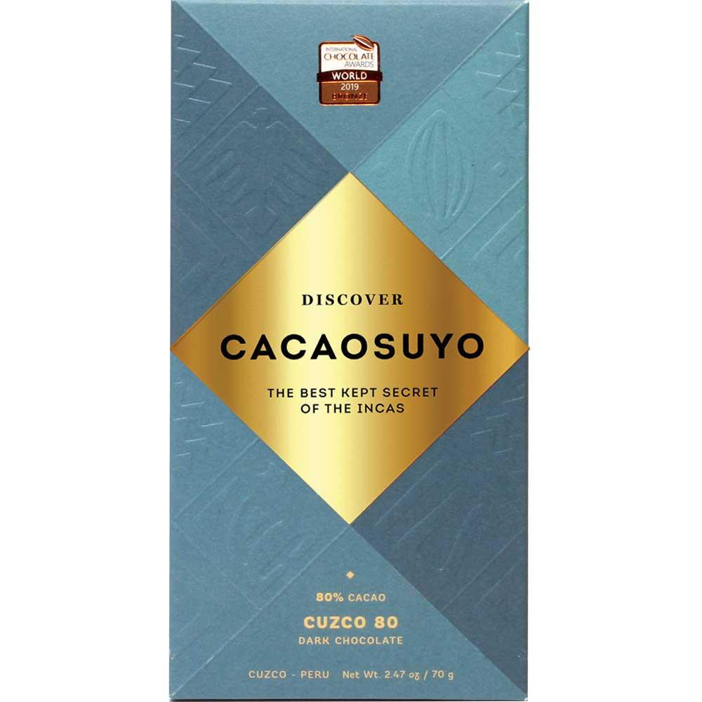 Cacaosuyo Probierset mit 3 ausgezeichneten Schokoladen zum Schoko-Festival - Peru, peruanische Schokolade - Chocolats-De-Luxe