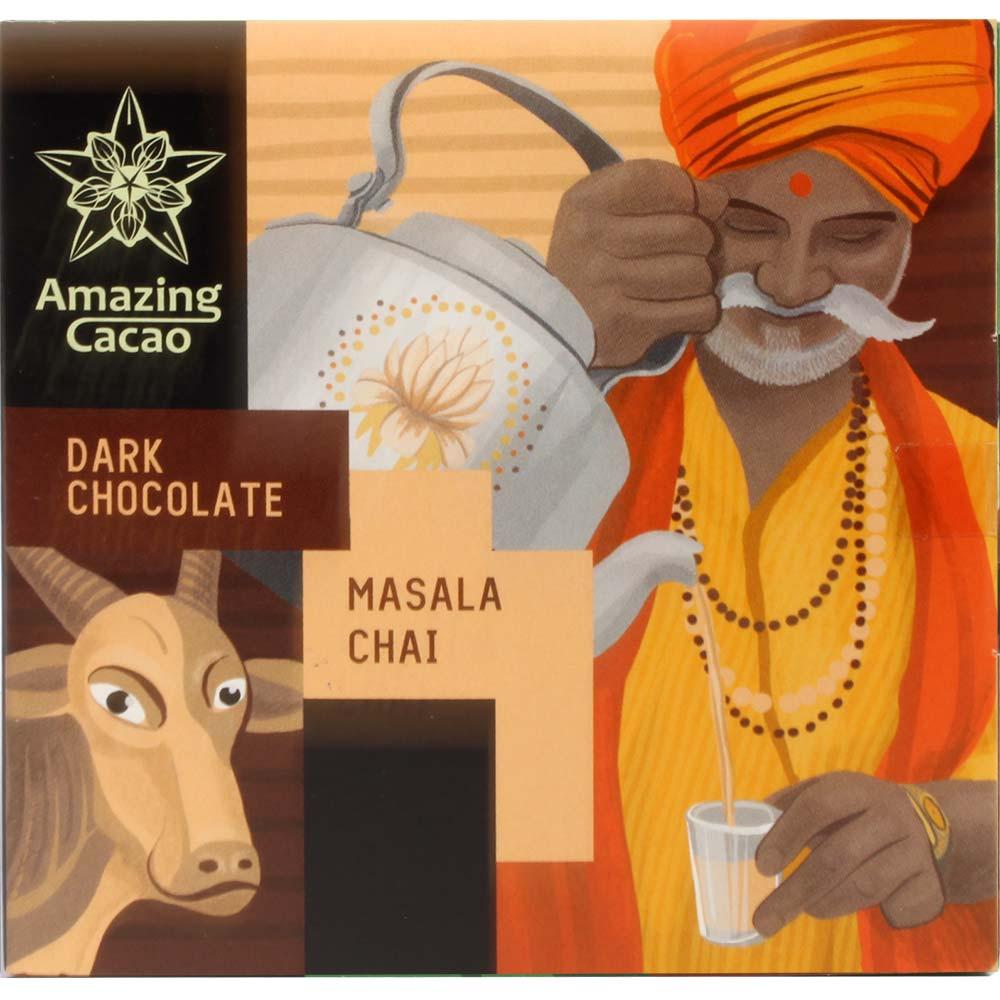 Masala Chai 70% dunkle Schokolade mit Gewürzen und Tee - Tavola di cioccolato, Russia, Cioccolato russo, Cioccolato con spezie - Chocolats-De-Luxe