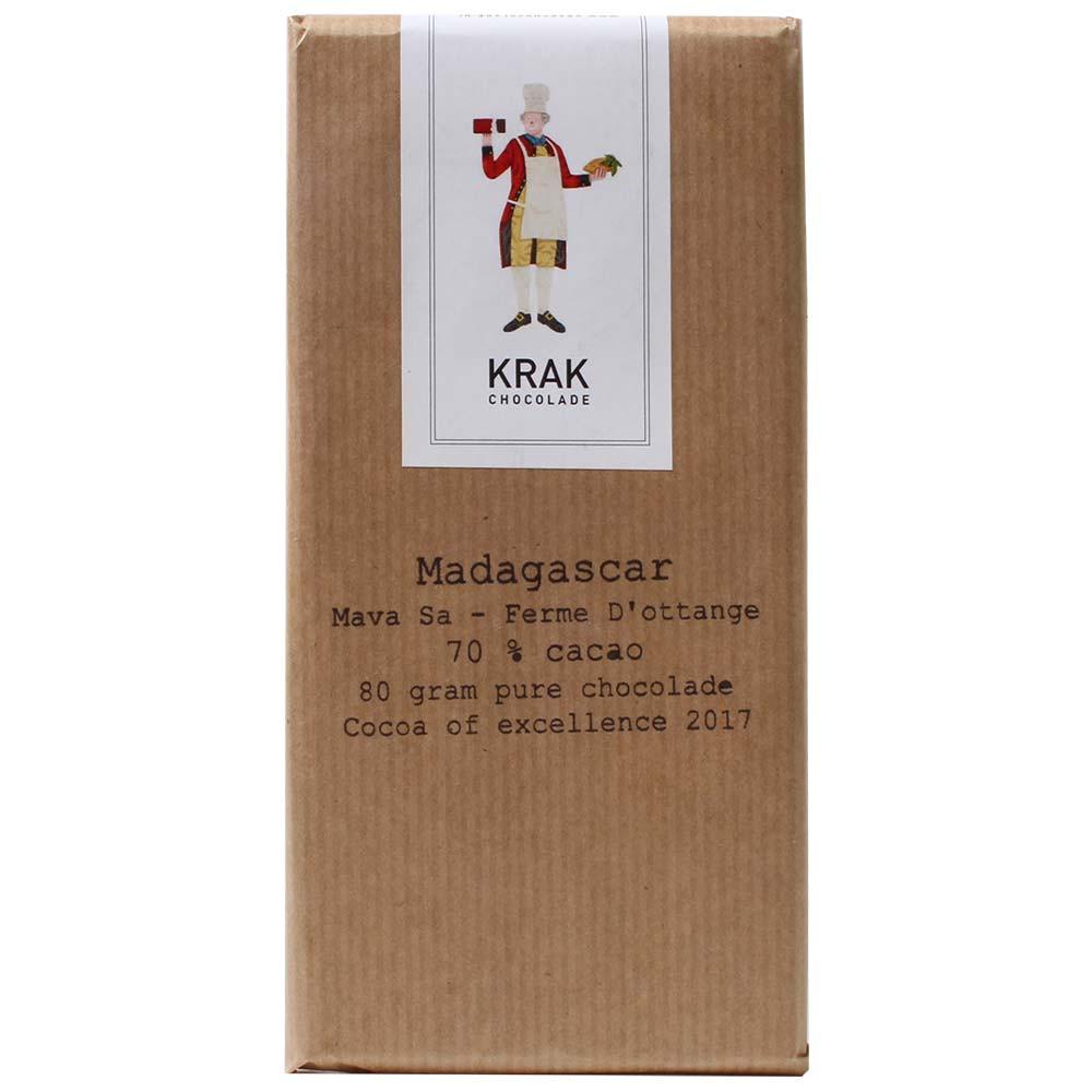 Madagascar Mava SA - Ferme D'Ottange 70% chocolat noir - Tablette de chocolat, chocolat sans gluten, chocolat sans lactose, chocolat sans lécithine, chocolat sans noix, chocolat sans soja, chocolat végétalien, Pays-Bas, chocolat hollandais, chocolat pur, sans ingrédients - Chocolats-De-Luxe