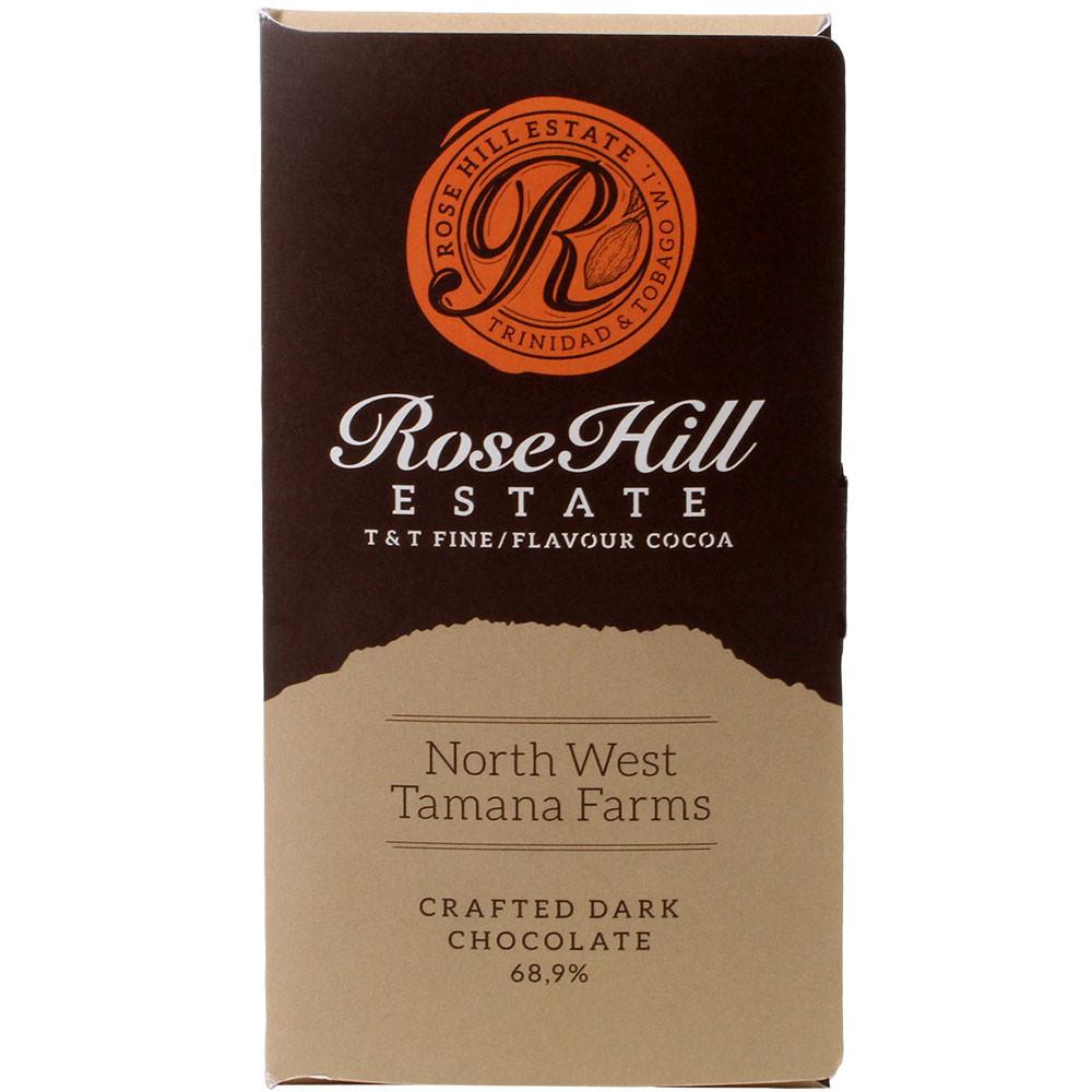 68,9% Cioccolato Rose Hill Estate Trinidad - Tavola di cioccolato, cioccolato vegano, Stati Uniti d'America, cioccolato americano, us cioccolato, cioccolato alla vaniglia - Chocolats-De-Luxe