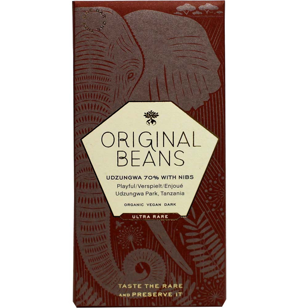 Udzungwa 70% BIO chocolate with cocoa nibs - $seoKeywords- Chocolats-De-Luxe