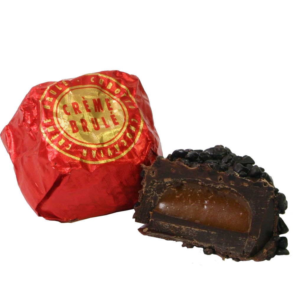dark chocolate, chocolat noir, chocaviar, Creme Caramel, gefüllte Praline, Kaviar, - Pralines, Sweet Fingerfood, alcohol free Chocolate, gluten free chocolate, Italy, italian chocolate, Chocolate with caramel - Chocolats-De-Luxe