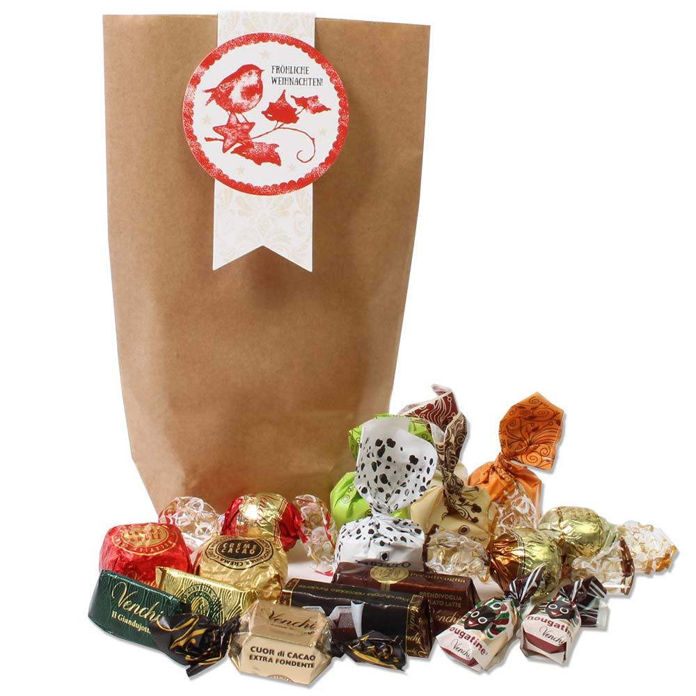 Merry Christmas filled gift bag - $seoKeywords- Chocolats-De-Luxe