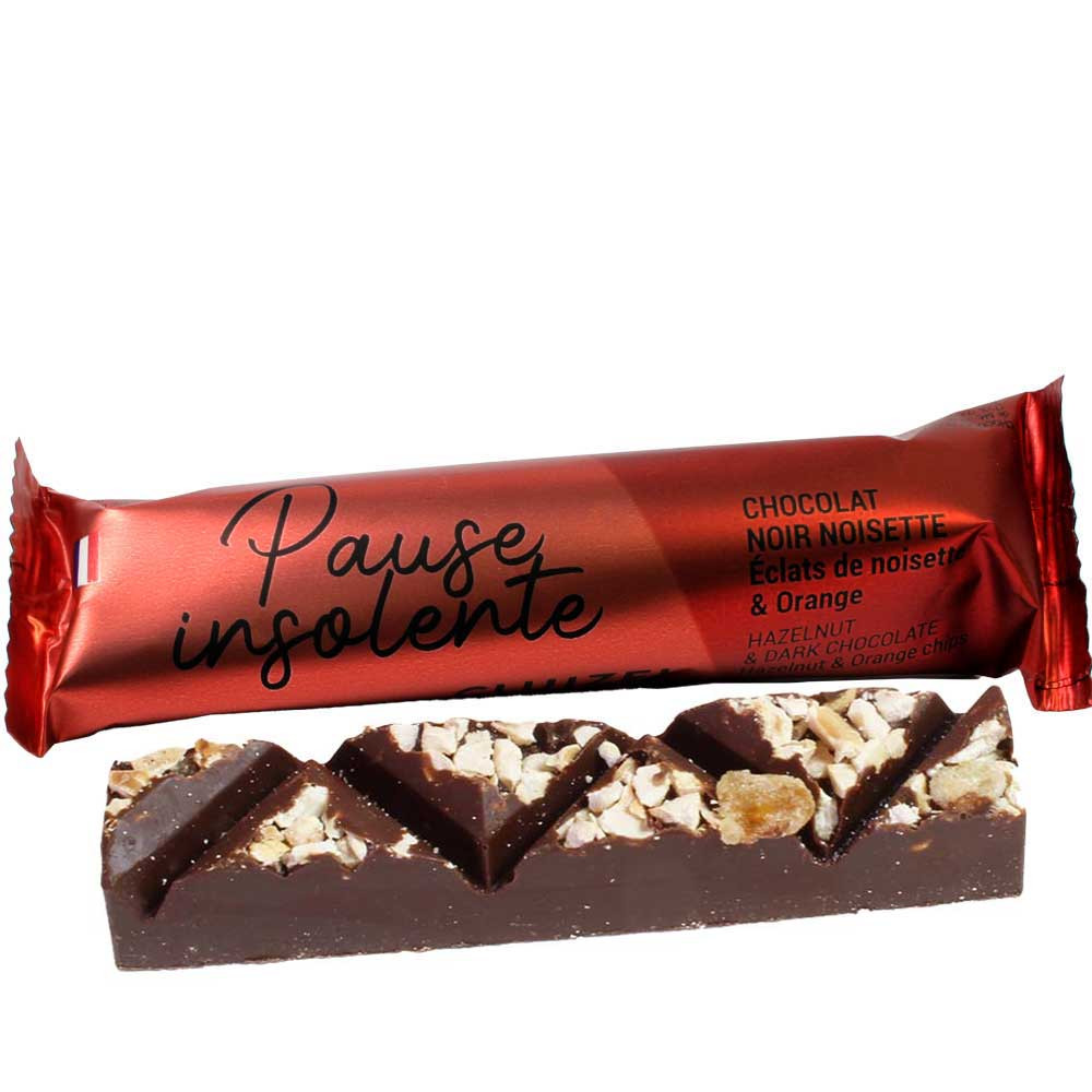 Chocolate bar Pause Insolente - dark chocolate - Finger bar, without artificial flavourings / additives, France, french chocolate, Chocolate with cocoa /-nibs - Chocolats-De-Luxe