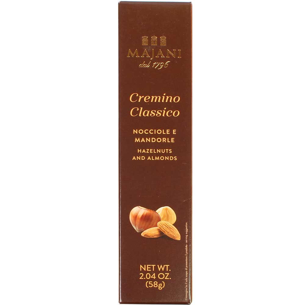 Cremino Classico - bar made from almond and hazelnut nougat - Finger bar, gluten free chocolate, Italy, italian chocolate, chocolate with nougat, nougat chocolate - Chocolats-De-Luxe