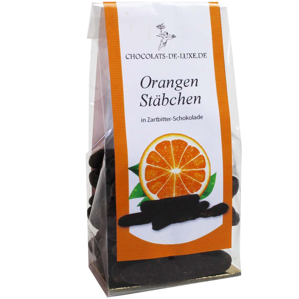 Orange sticks in 70% dark chocolate - $seoKeywords- Chocolats-De-Luxe