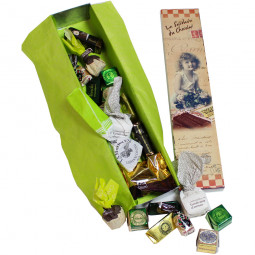Schokoladendose in Grün