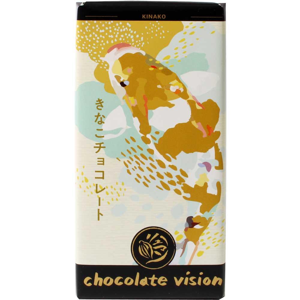 Kinako - japanische Vollmilchschokolade mit geröstetem Sojabohnenpulver - Tavola di cioccolato, cioccolato senza lecitina, Germania, cioccolato tedesco - Chocolats-De-Luxe