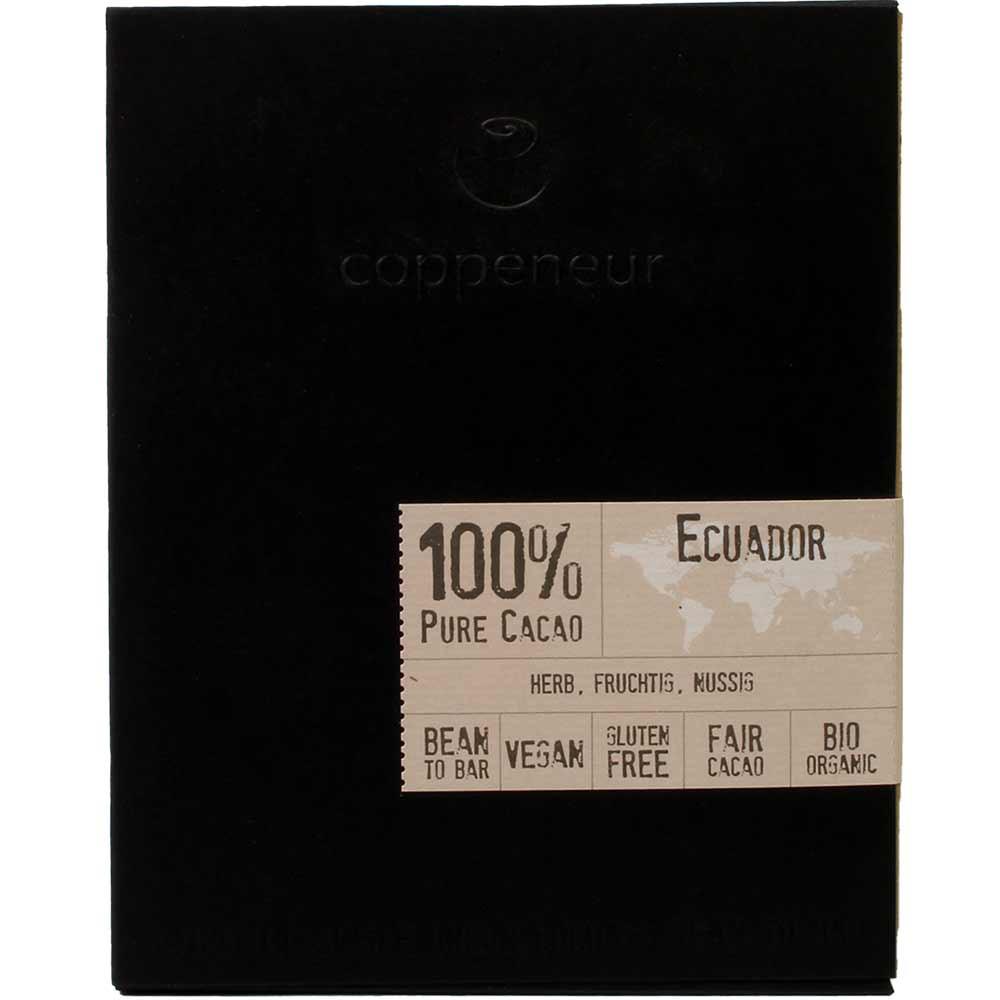 100% Ecuador Pure Cacao BIO - reine Kakaomasse - Tafelschokolade, zuckerfrei, ohne Zuckerzusatz, Deutschland, deutsche Schokolade - Chocolats-De-Luxe
