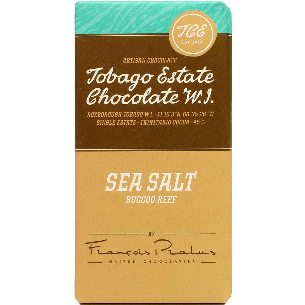Sea Salt Buccoo Reef - 45% milk chocolate with salt - Bar of Chocolate, France, french chocolate, Chocolate with salt - Chocolats-De-Luxe