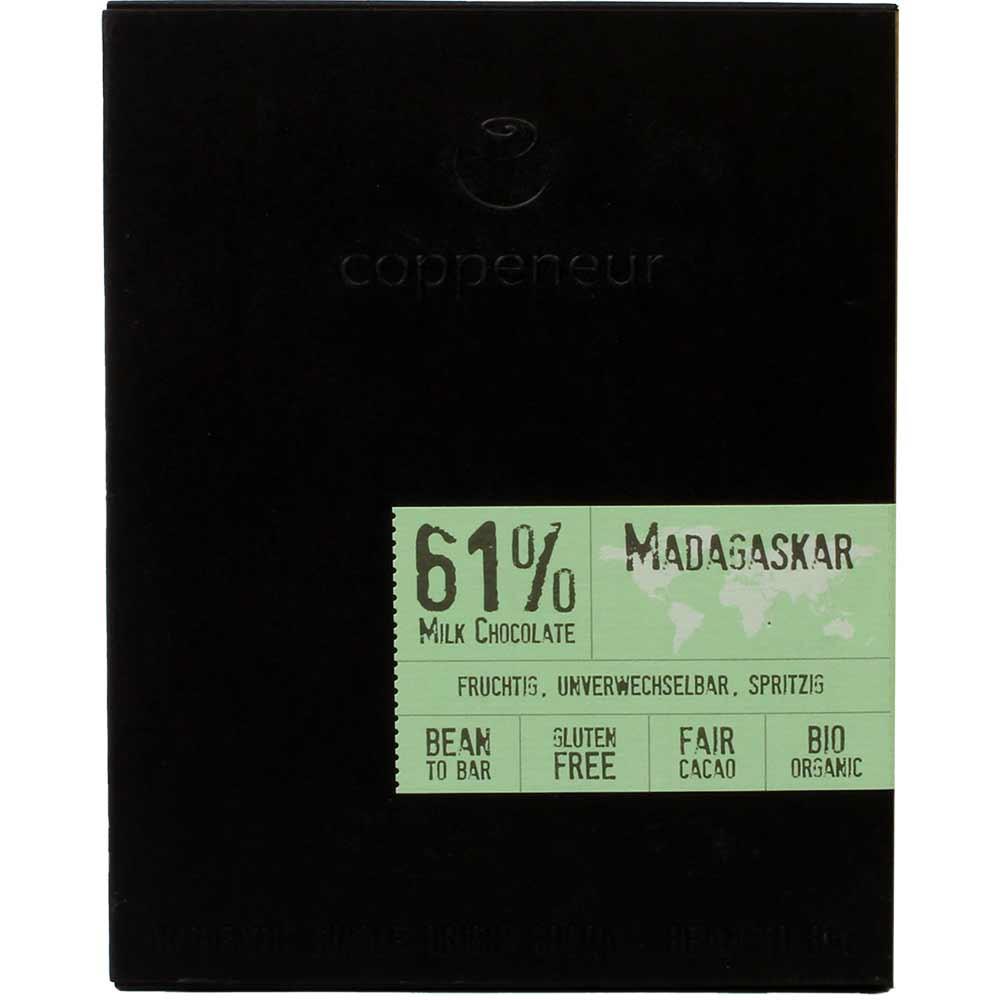 61% Madagascar Dark Chocolate BIO - dunkle Vollmilchschokolade - Tablette de chocolat, sans arômes artificiels / additifs, Allemagne, chocolat allemand - Chocolats-De-Luxe