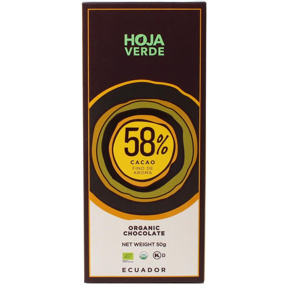 58% dark chocolate organic
