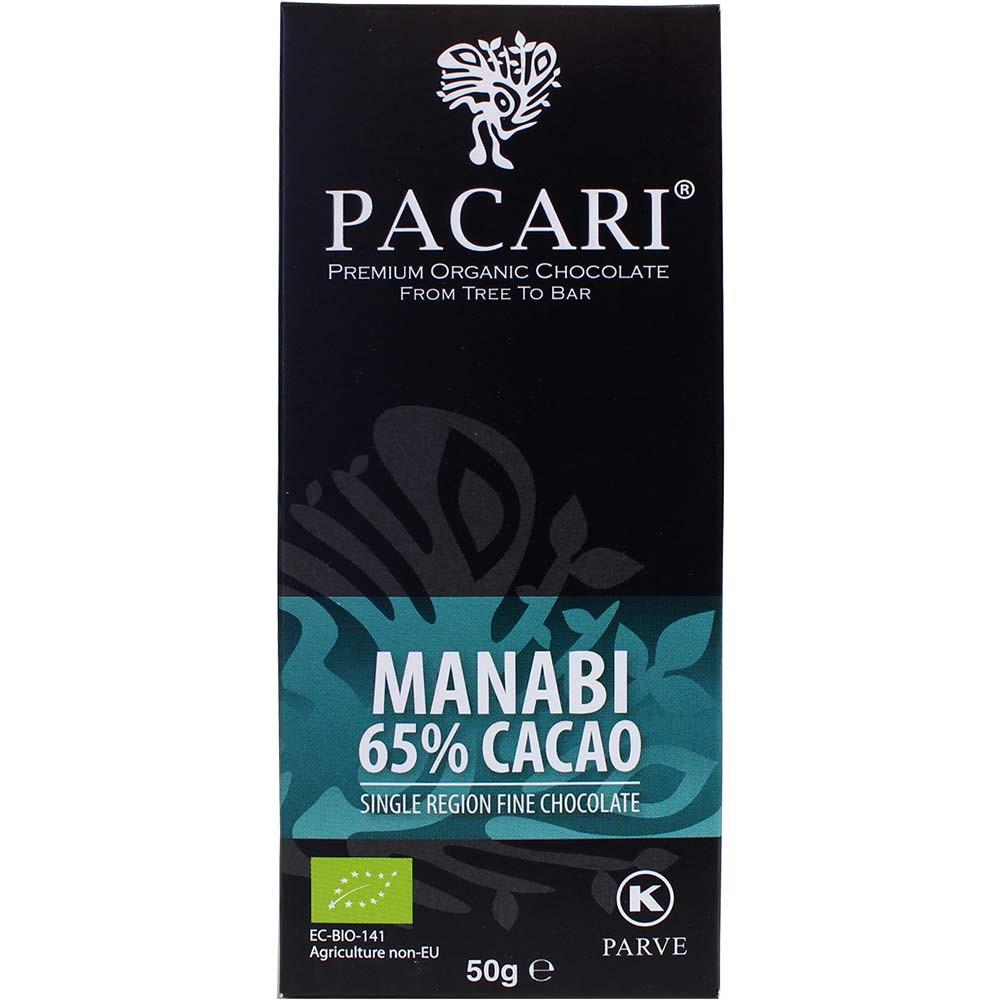 Manabi 65% Cacao aus Arriba Nacional Bohnen - Chocoladerepen, Kosjer chocolade, veganistvriendelijk, Ecuador, Ecuadoraanse chocolade - Chocolats-De-Luxe