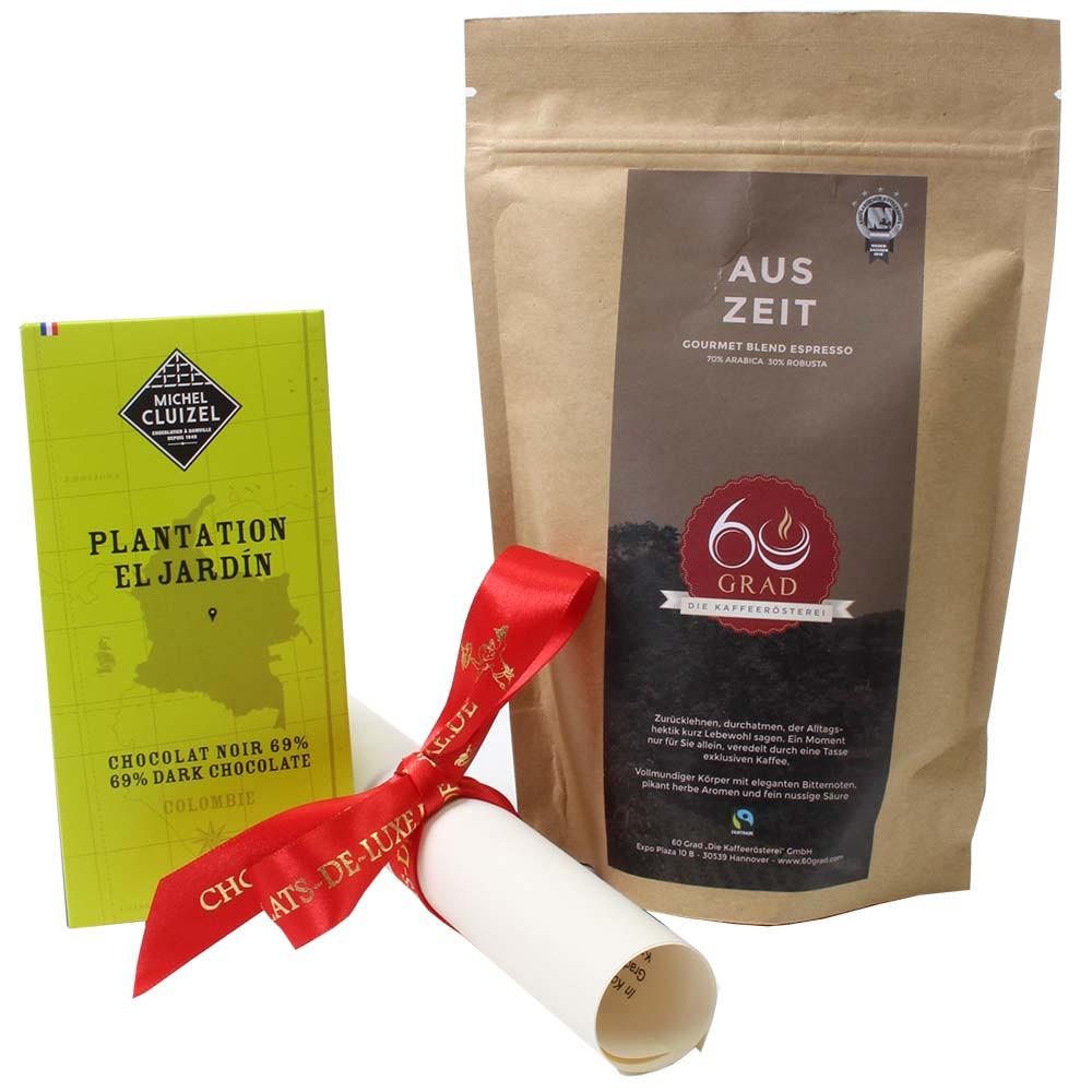 Geschenkset Auszeit mit Kaffee und Schokolade