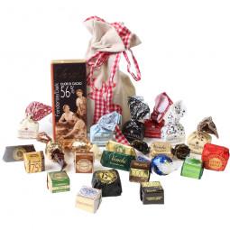 Weihnachtsbeutel Hüttenzauber gefüllt mit Schokolade